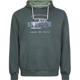 Elkline Bus Stop Sweat Hoodie Men, trekking green